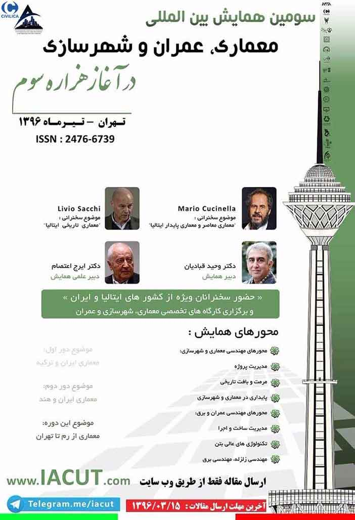 Third International Conference on Architecture (Iran and Italy)