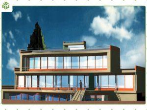 ساختمان اداری نیروگاه خورشیدی گازی یزد